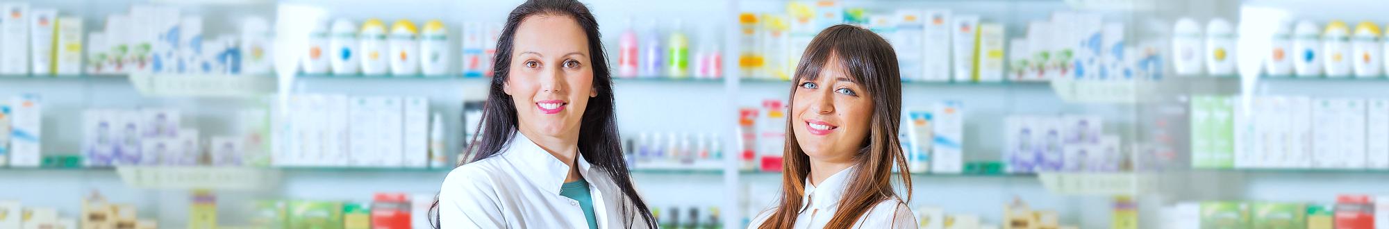 two female pharmacist smiling
